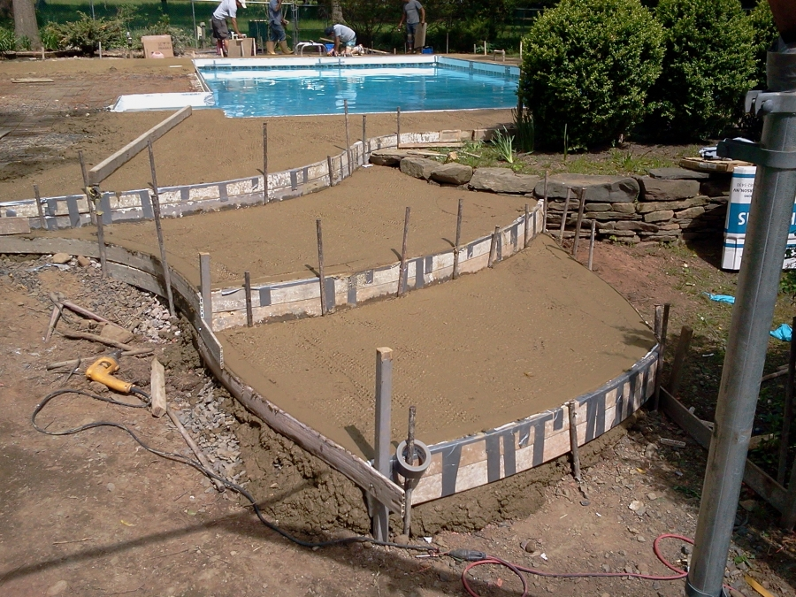 Backyard pool support serpentine