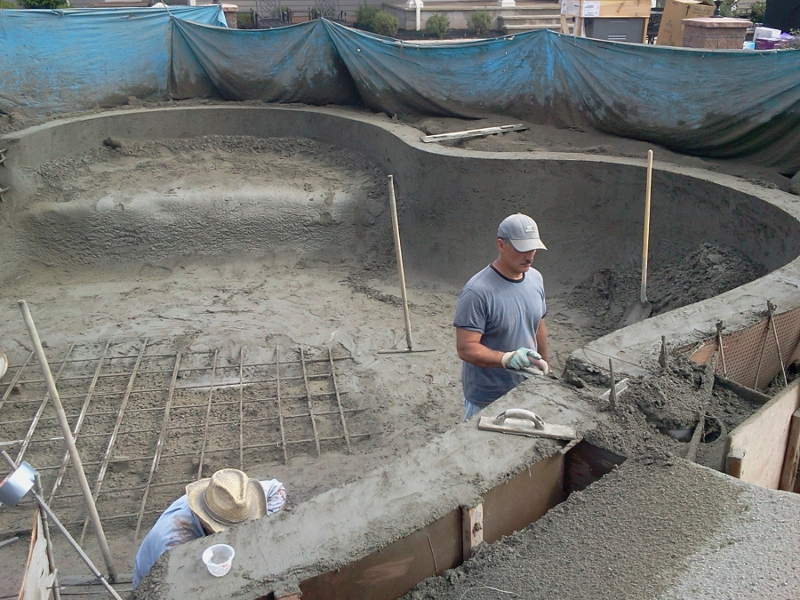 Inground pool under construction (3)