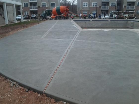 "Commercial Project. Poured ""Regular"" Concrete Decking. 2013"