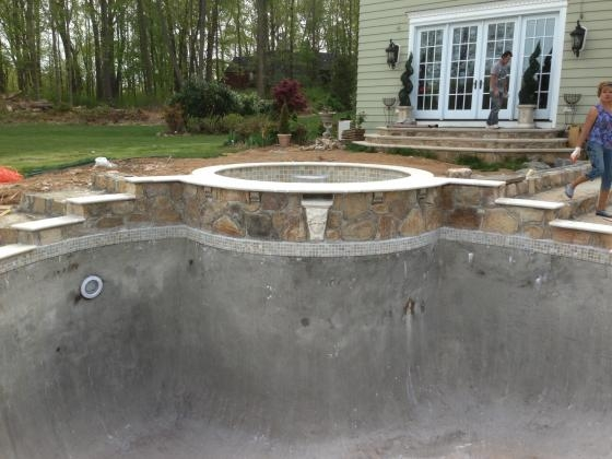Beautiful Stonework. New Pool 2013 Harding Twsp, NJ