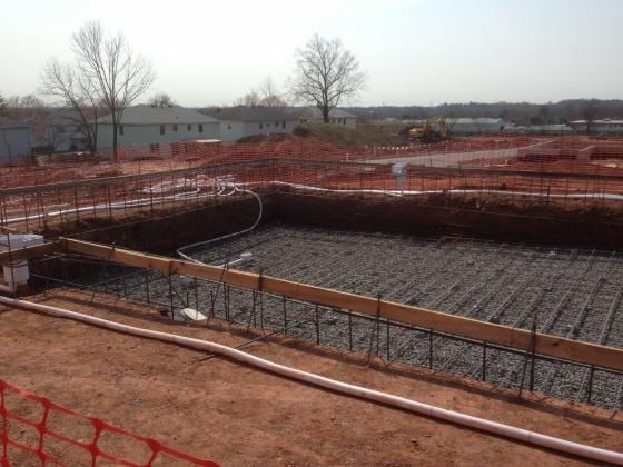 Commercial Pool- Rebar Cage In Place. Somerset 2013, 2
