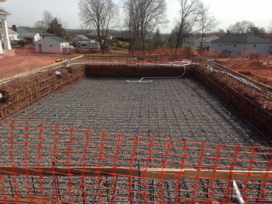 Commercial Pool- Rebar Cage In Place. Somerset 2013