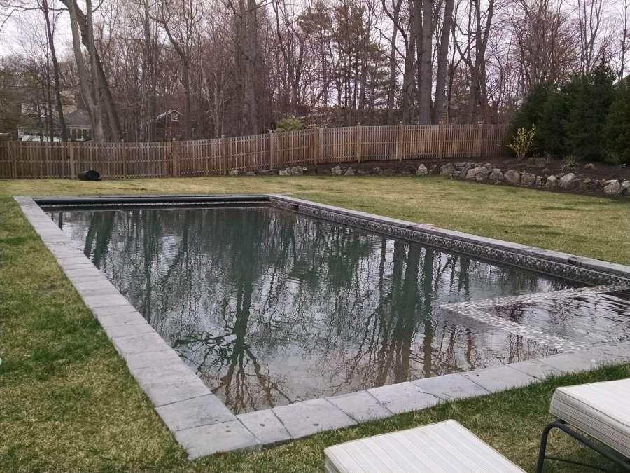 Elegant in-ground concrete pool