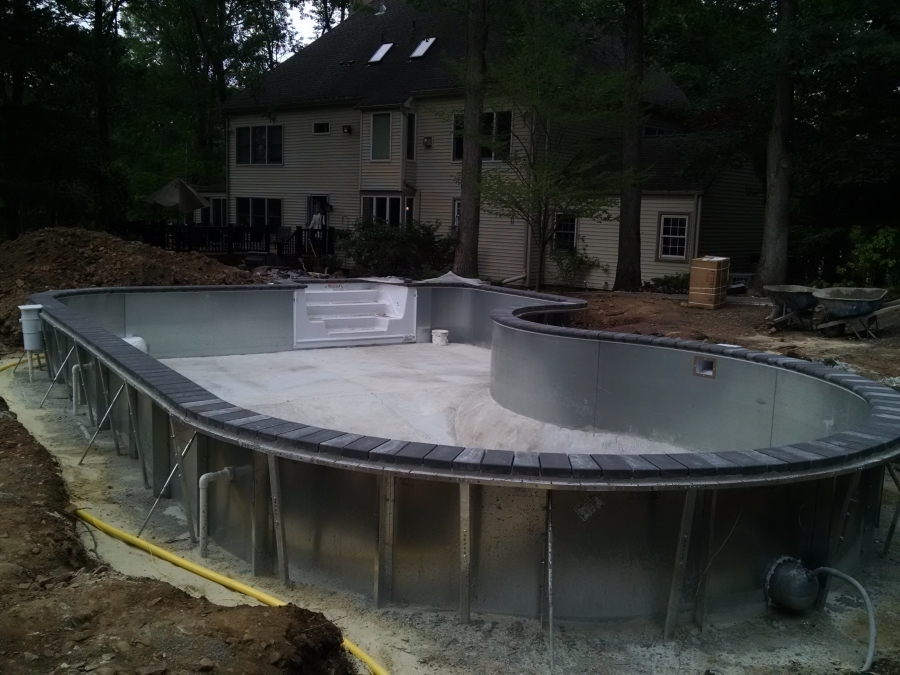Vinyl Liner In-Ground Pool under Construction 2
