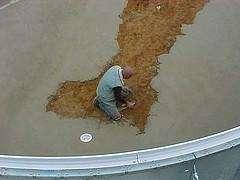 Vermiculite Floor Being Installed