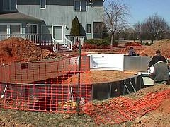 Erecting The Walls For A liner Pool