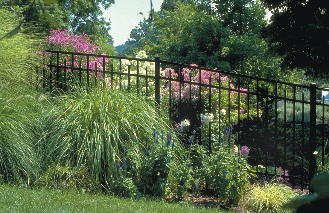 fence-in-a-beautiful-garden
