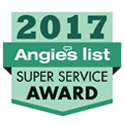 2017 Angie's super service award badge