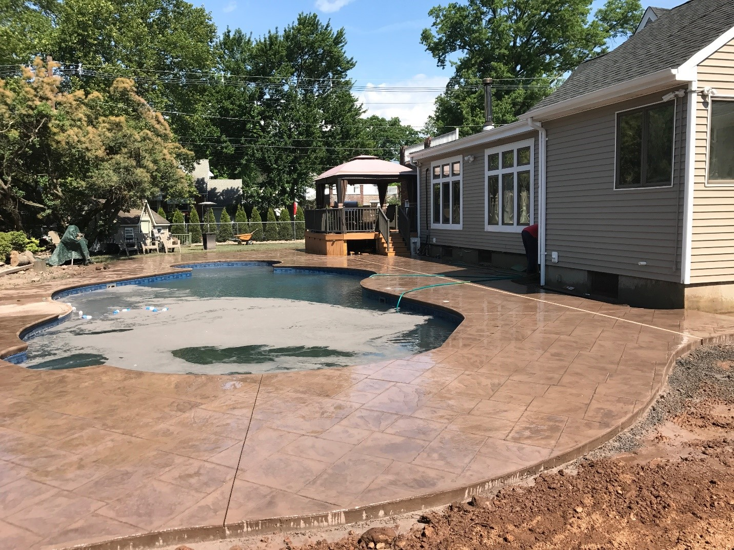 Levco Pools Decking Work